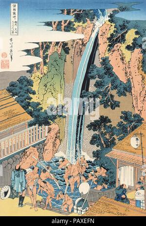 A Tour of the Waterfalls of the Provinces-Soushuu Ooyama Rouben No Taki. - Stock Photo