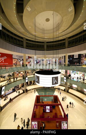 Dubai, United Arab Emirates – July 23, 2018, The Dubai Mall located in Downtown Dubai, beside the Burj Kalifa, biggest Mall In UAE, With a total inter - Stock Photo