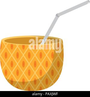 delicious pineapple smoothie fruit beverage - Stock Photo