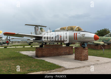 KRUMOVO, PLOVDIV, BULGARIA - 29 APRIL 2017: Aviation Museum near Plovdiv Airport, Bulgaria