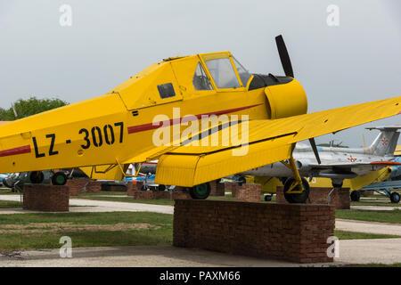 KRUMOVO, PLOVDIV, BULGARIA - 29 APRIL 2017: Plane LZ 3007 inAviation Museum near Plovdiv Airport, Bulgaria