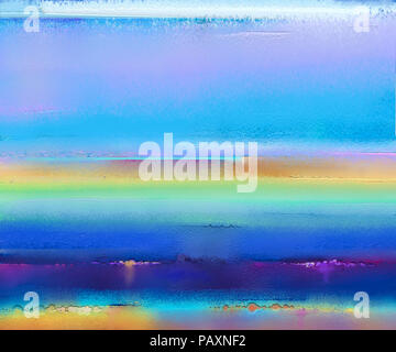 Abstract colorful oil painting on canvas texture. Semi- abstract image of landscape paintings background. Modern art oil paintings with yellow, red an