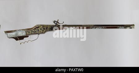 Wheellock Rifle  Culture: German, Munich and Augsburg