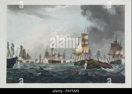 Lord Howe's Victory, June 1st 1794 - Stock Photo