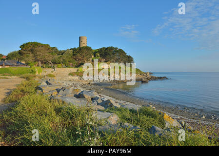 Fort Saumarez,  Martello tower in Saint Peter (Saint Pierre du Bois), Guernsey, Channel Islands. - Stock Photo