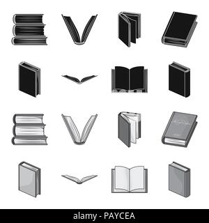 Various kinds of books. Books set collection icons in black,monochrome style vector symbol stock illustration . - Stock Photo