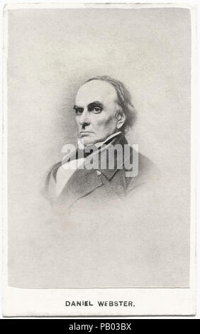 Daniel Webster (1782-1852), American Politician, Served as Congressman in the U.S. House of Representatives, Senator, &  Secretary of State, Head and Shoulders Portrait - Stock Photo