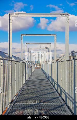 Footbridge across the roof, Galleria Vittorio Emanuele II, Milan, Lombardy, Italy - Stock Photo