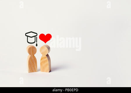 education versus love. Construction of a career. Career growth at the expense of the family's personal life. Money is more important than family. Deni - Stock Photo