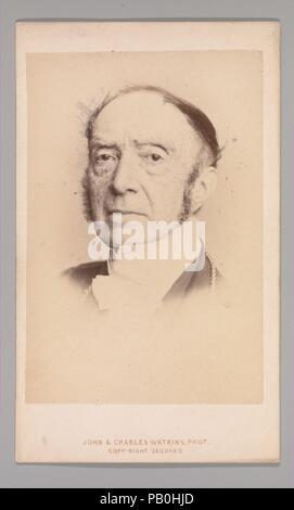 [Sir Charles Lock Eastlake]. Dimensions: Approx. 10.2 x 6.3 cm (4 x 2 1/2 in.). Photography Studio: John and Charles Watkins (British, active 1867-71). Date: 1860s. Museum: Metropolitan Museum of Art, New York, USA. - Stock Photo