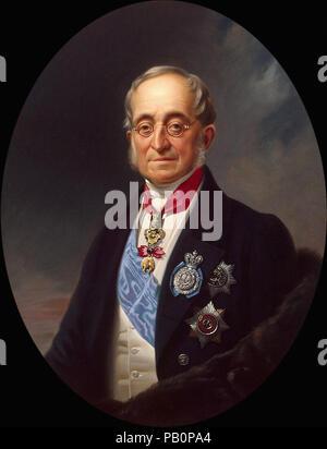 Kruger  Franz - Portrait of Karl Nesselrode - Stock Photo