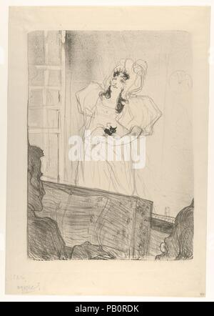 Miss May Belfort (Medium Plate). Artist: Henri de Toulouse-Lautrec (French, Albi 1864-1901 Saint-André-du-Bois). Dimensions: Image: 17 1/8 × 12 9/16 in. (43.5 × 31.9 cm)  Sheet: 21 1/4 × 14 15/16 in. (54 × 37.9 cm). Printer: Edward Ancourt (French, 19th century); H. Stern. Subject: May Belfort (Irish, 1872-1929). Date: 1895. Museum: Metropolitan Museum of Art, New York, USA. - Stock Photo
