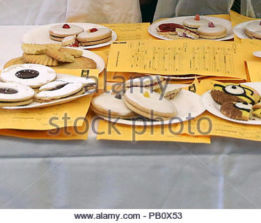 Embargoed to 0001 Thursday July 26 Embargoed to 0001 Thursday July 26 File photo dated 31/03/16 of a selection of cakes and biscuits. The sugar content of similar cakes and biscuits sold in supermarkets varies significantly, researchers have revealed, as they called on manufacturers to shake up recipes. RESS ASSOCIATION Photo. Issue date: Thursday July 26, 2018. Cakes categorised as Victoria sponges contain anything from 23.4 to 59.2 grams of sugar per 100 grams, according to a study published in journal BMJ Open.See PA story HEALTH Sugar. Photo credit should read: Andrew Milligan/PA Wire - Stock Photo