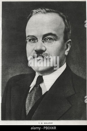 Vyacheslav Mikhailovich Molotov (1890-1986), Politician, Diplomat, and Leading Figure in Soviet Government from the 1920's to 1940's, Portrait - Stock Photo
