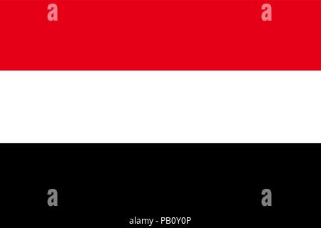 Flag of Yemen. Symbol of Independence Day, souvenir soccer game, button language, icon. - Stock Photo