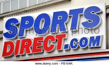 Embargoed to 0001 Thursday July 26 File photo dated 11/06/15 of a Sports Direct sign, as the company has been named among the most improved brands by UK consumers in a ranking topped by John Lewis. - Stock Photo