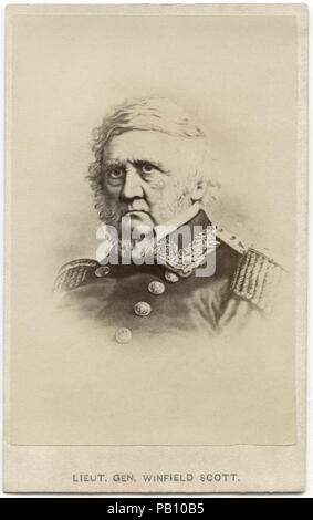 Winfield Scott (1786-1866), U.S. Army General, Serving on Active Duty as General longer than anyone in U.S. History, Portrait, 1860's - Stock Photo