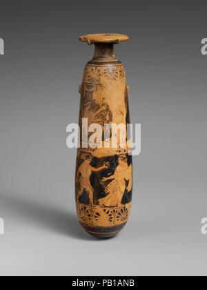 Greek Vase Home Decoration In Thira Town Capital City Of Stock