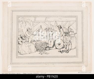 Comforts of Bath, Plate 4. Artist: Thomas Rowlandson (British, London 1757-1827 London). Dimensions: Sheet: 8 13/16 × 11 5/16 in. (22.4 × 28.8 cm)  Plate: 7 3/4 × 10 1/4 in. (19.7 × 26 cm). Series/Portfolio: Comforts of Bath. Date: January 6, 1798. Museum: Metropolitan Museum of Art, New York, USA. - Stock Photo