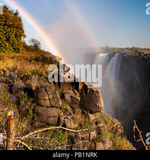 The Victoria Falls in Zimbabwe, Africa - Stock Photo