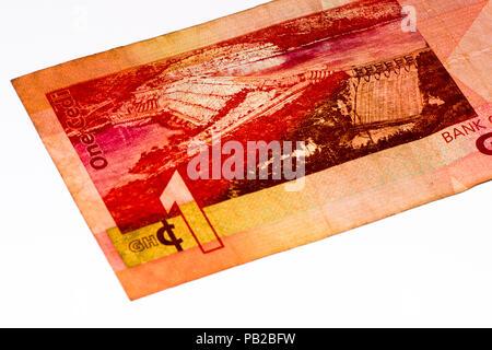 1 Ghana cedi bank note. Ghana cedi is the national currency of Ghana - Stock Photo