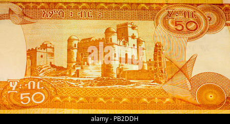 50 Ethiopian birr bank note. Birr is the national currency of Ethiopia - Stock Photo