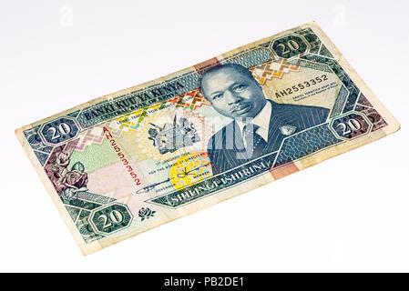 10 Kenyan shillings bank note of Kenya. Kenyan shilling is the national currency of Kenya - Stock Photo