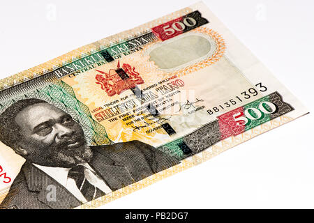 500 Kenyan shillings bank note of Kenya. Kenyan shilling is the national currency of Kenya - Stock Photo