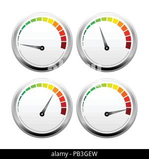 3D Speed Meter Vector Symbol Graphic Logo Design Template - Stock Photo