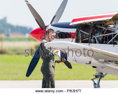 Krila oluje aerobatic group from Croatia - Stock Photo
