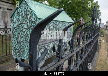 The ornate, Victorian tomb of Frederick Richards Leyland, a Grade II listed monument in Brompton Cemetery, London, England, UK, Europe. - Stock Photo