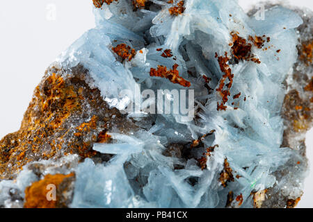 Blue barite mineral specimen - Stock Photo