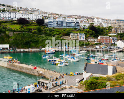 Pleasure and fishing boats in the harbour at Ilfracombe, North Devon, UK - Stock Photo