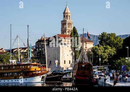 Old Split, the Historic Center of Split, Croatia - Stock Photo