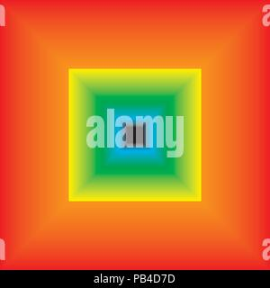Abstract Frame Gradient Blended from red to yellow to green to blue to black - Stock Photo