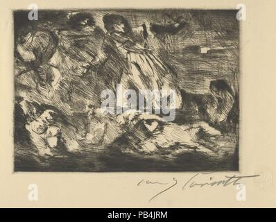 The Barque of Dante. Artist: After Eugène Delacroix (French, Charenton-Saint-Maurice 1798-1863 Paris); Lovis Corinth (German, Tapiau, Prussia 1858-1925 Zandvoort, Holland). Dimensions: Sheet: 11 11/16 x 17 5/8 in. (29.7 x 44.8 cm). Date: 1920-21. Museum: Metropolitan Museum of Art, New York, USA. - Stock Photo