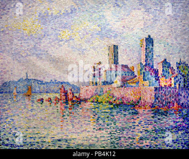 Antibes, The Towers 1911 Paul Signac 1863-1935 France French - Stock Photo