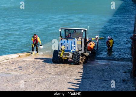RNLI training exercise porthcawl marina 2018 - Stock Photo