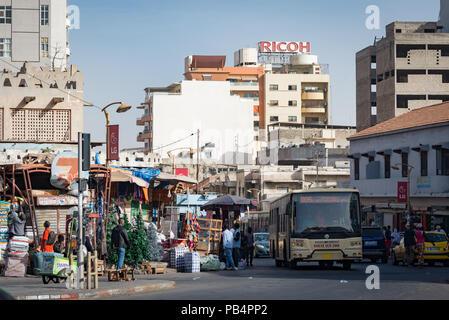 Downtown Dakar, Senegal, West Africa - Stock Photo