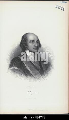 838 John Jay, first Chief Justice, U.S (NYPL Hades-255865-430885) - Stock Photo