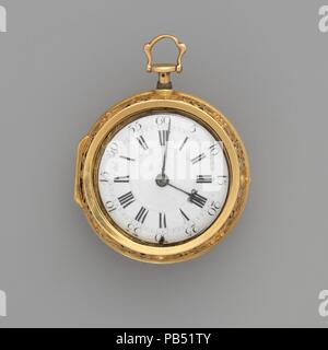 Watch. Culture: British, London. Dimensions: Diameter: 2 1/8 in. (5.4 cm). Maker: Watchmaker: Rodet (active ca. 1740). Date: ca. 1740. Museum: Metropolitan Museum of Art, New York, USA. - Stock Photo