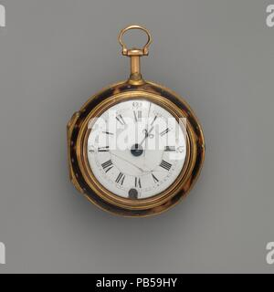 Watch. Culture: British, London. Dimensions: Diam. 1-7/8 in. (4.8 cm). Maker: Watchmaker: Charles Coulon (active 1765-70). Date: ca. 1770. Museum: Metropolitan Museum of Art, New York, USA. - Stock Photo