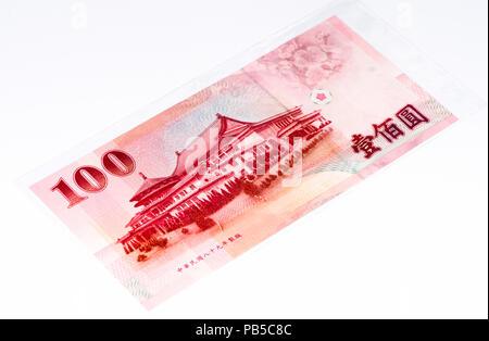 100 Taiwan Dollar Bank Note New Taiwan Dollar Is The National