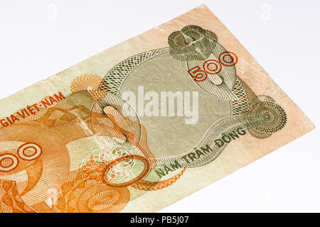 500 dong bank note of South Vietnam. Dong is the national currency of Vietnam - Stock Photo