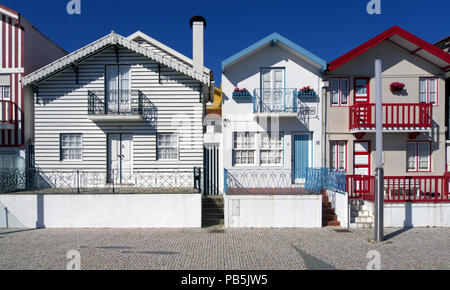 Typical houses of Aveiro, Portugal (collection - sea others in my portfolio) - Stock Photo