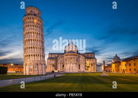 Cathedral and Leaning Tower of Pisa, Italy - Stock Photo