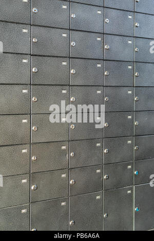 a lot of lockers for renting and storing valuables - Stock Photo