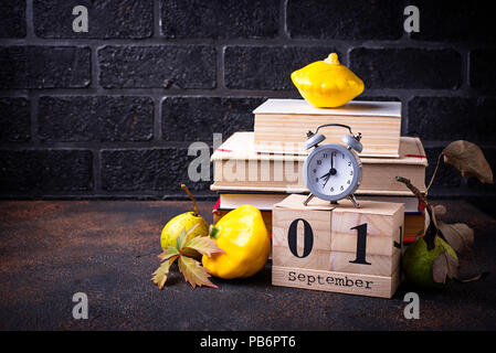 1 September. Back to school concept - Stock Photo
