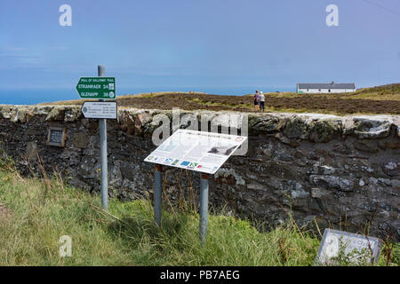 Sign post for Southern Upland Way long distance footpath. Port Patrick. Scotland - Stock Photo