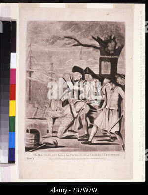 1618 The Bostonian's paying the excise-man, or tarring & feathering LCCN2004673302 - Stock Photo